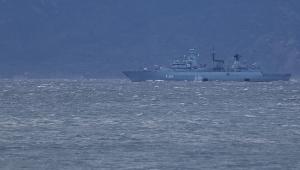 NATO'ya bağlı Alman savaş gemisi boğaz sularında