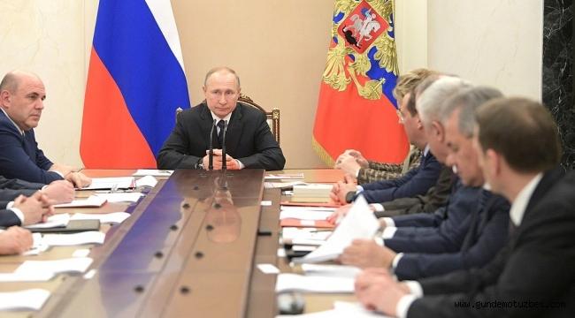 Putin, İdlib ve korona virüsü gündemiyle güvenlik konseyini topladı