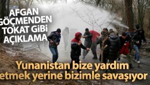 Afgan göçmen: 'Yunanistan bize yardım etmek yerine bizimle savaşıyor'