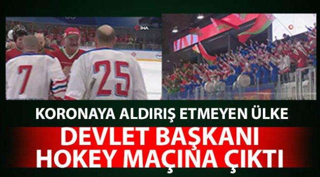 Belarus Devlet Başkanı Lukaşenko, koronaya rağmen hokey maçına çıktı