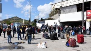 Bodrum'da, memleketlerine dönmek isteyen işçiler özel seferlerle ilçeden ayrılıyor