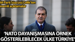 AK Parti Sözcüsü Çelik: 'NATO dayanışması adına örnek gösterilebilecek tek ülke Türkiye'