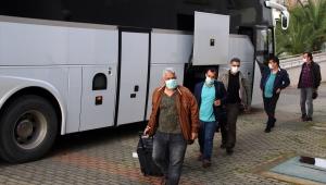 Cezayir'den getirilen 450 kişi Aydın'da öğrenci yurduna yerleştirildi