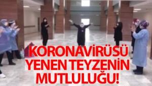 Koronavirüsü yendi, dans ederek taburcu oldu