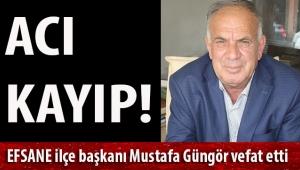 İzmir CHP'de acı kayıp! Efsane CHP Tire e. ilçe başkanı Mustafa Güngör vefat etti
