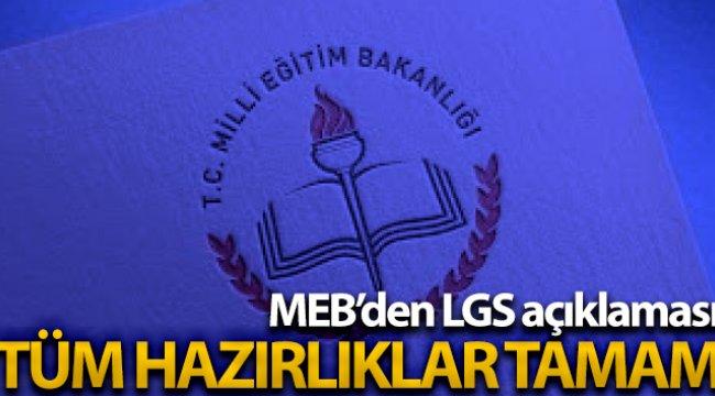 MEB Ortaöğretim Genel Müdürü Mete: 'LGS için tüm hazırlıklar tamam'