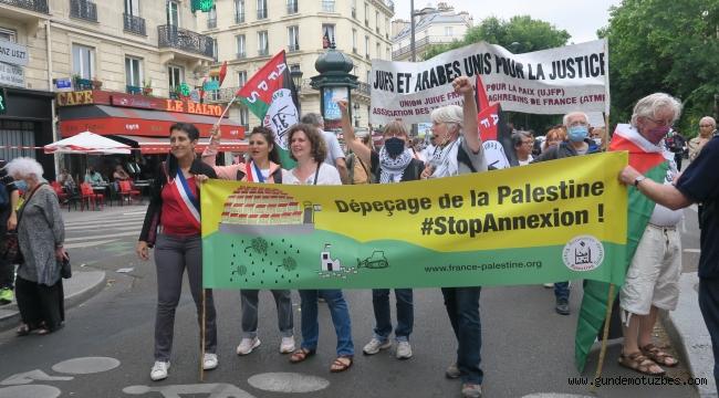 Paris'te İsrail'in ilhak planı protesto edildi