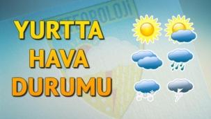 Bayramın 1. günü yurtta hava durumu
