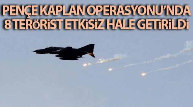 Pençe Kaplan Operasyonu'nda 8 terörist daha etkisiz hale getirildi