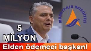 Antalya Muratpaşa belediye başkanı Ümit Uysal'dan yandaşa elden ödeme kıyağı: 5 Milyon lira