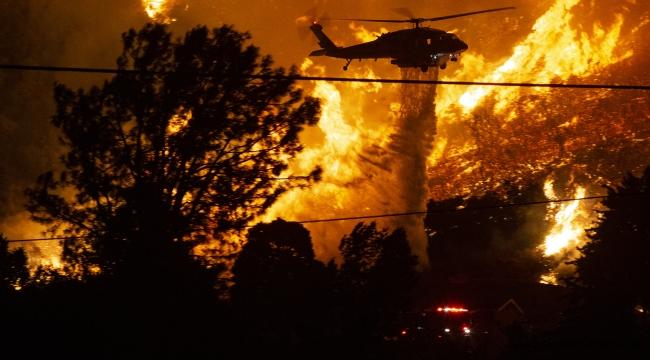 Los Angeles yakınlarında korkutan orman yangını