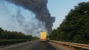 Manisa'da mobilya fabrikasında yangın