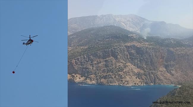 Muğla'da havadan ve karadan müdahale edilen orman yangını söndürüldü