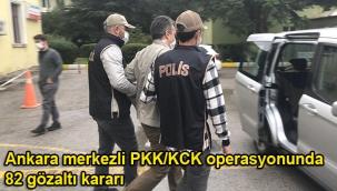 Ankara merkezli PKK/KCK operasyonunda 82 gözaltı kararı