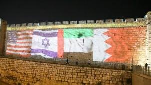 Kudüs surları ABD, İsrail, BAE ve Bahreyn bayrakları ile aydınlatıldı