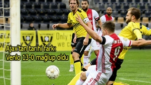 Ajax'tan tarihi fark: Venlo 13-0 mağlup oldu
