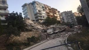Bursa'da 3 ay önce boşaltılan 9 katlı apartman çöktü