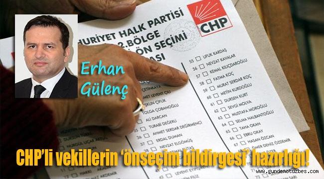 CHP'li vekillerin 'önseçim bildirgesi' hazırlığı!