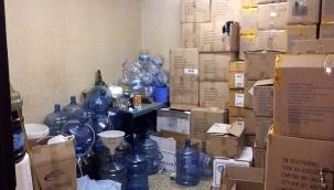 Hırsızların girdiği depo sahte içki imalathanesi çıkmıştı: 6 ton sahte içki ele geçirildi