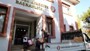 Menteşe'de toplanan yardımlar İzmir'e gönderildi