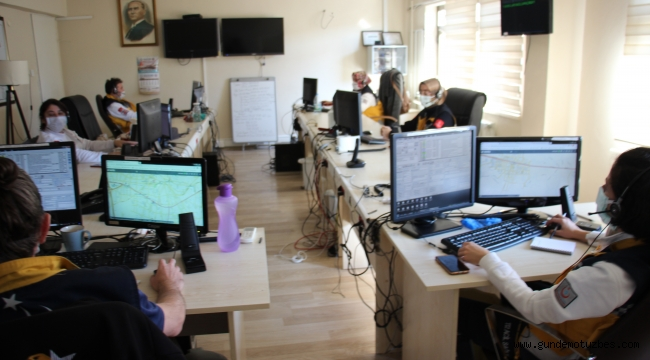 Aydın 112 Komuta Kontrol Merkezi'nde çağrı sayısı 2 kat arttı