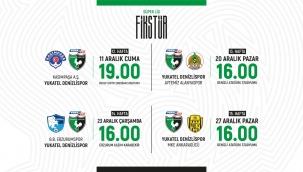Denizlispor'un 4 haftalık maç tarihleri belli oldu