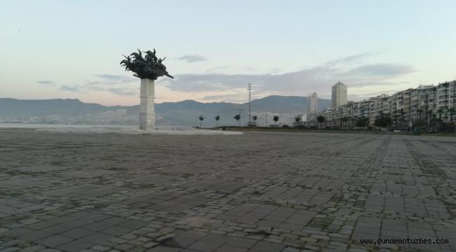 İzmir'de kısıtlamasının ilk gününde kenti sessizlik sardı