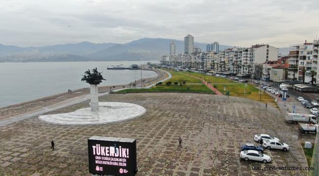 İzmir'de sular çekildi
