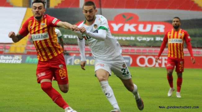 Süper Lig: Hes Kablo Kayserispor: 1 - Aytemiz Alanyaspor: 1